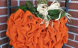 how to make a diy pumpkin wreath, crafts, how to, wreaths
