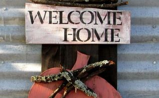diy welcome home fall sign, crafts, home decor