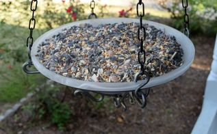 how to repurpose a ceiling fan light fixture into a bird feeder, gardening, painting, repurposing upcycling