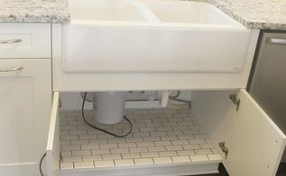 how to tile under the sink, bathroom ideas, how to, plumbing