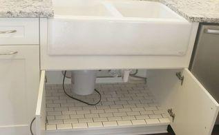 Bathroom Tiles Rockingham tile under sink | hometalk