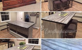 transformed dresser into kitchen island, kitchen design, painted furniture