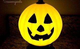 jack o lamp a salvaged light fixture pumpkin for halloween, halloween decorations, lighting, repurposing upcycling, seasonal holiday decor