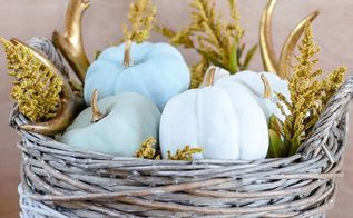 dollar store painted pumpkins , crafts, painting, seasonal holiday decor