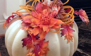 twisted foam fall flower, crafts, seasonal holiday decor