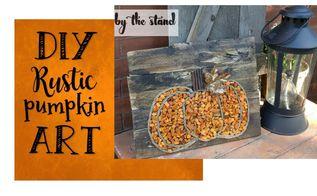 diy rustic pumpkin art, crafts