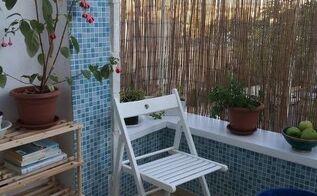 teeny tiny balcony makeover on a budget, porches