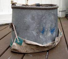 upcycled apple picking bucket, decks, lighting, outdoor living, pallet, plumbing, repurposing upcycling, wall decor