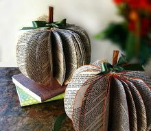 diy book page pumpkins, crafts, how to, repurposing upcycling, seasonal holiday decor