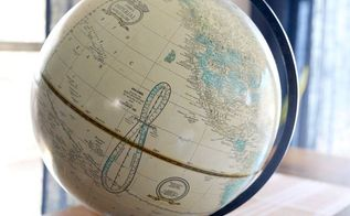upcycled globe, crafts, how to, painting