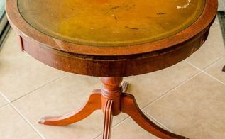 restore a mahogany leather top table with sheet music, crafts, painted furniture, woodworking projects