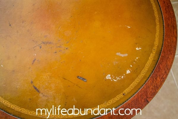 Restore A Mahogany Leather Top Table With Sheet Music