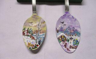 re purposed teaspoon christmas tree ornament, christmas decorations, seasonal holiday decor