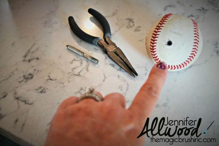 Diy Baseball Finial Curtains Hometalk