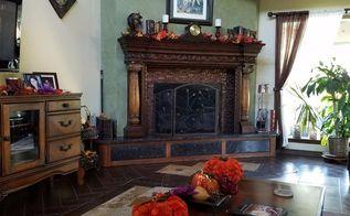 revamp an ugly brick fireplace no paint, concrete masonry, fireplaces mantels