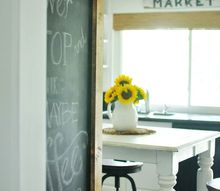 kitchen update the quickest diy chalkboard ever, chalkboard paint, kitchen design, painting, wall decor
