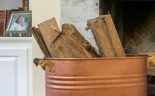 easy faux copper finish on old tub, home decor, painting