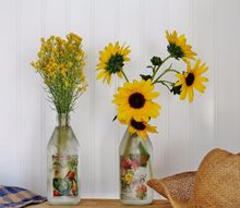 turn recycle bin bottles into a gift to brighten someone s day , crafts, home decor, repurposing upcycling