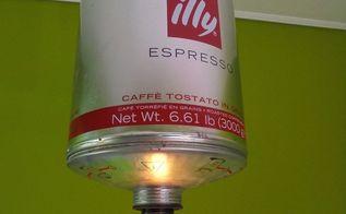 illy espresso pendant light, lighting, repurpose household items