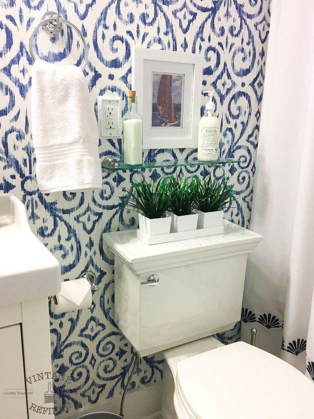 Blue White Bathroom Makeover Bathroom Ideas Home Decor Home Improvement