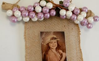 new way to use drift wood and burlap , crafts, wall decor