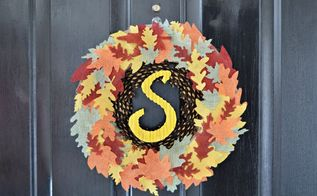 diy fall wreath, crafts, wreaths