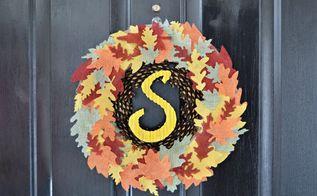 diy fall wreath, crafts, wreaths