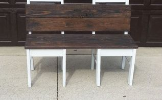 repurposed recreated bench, outdoor furniture