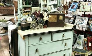 chippy goodness petite dresser transformation, painted furniture