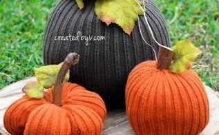 sweater pumpkins, crafts, repurposing upcycling, seasonal holiday decor
