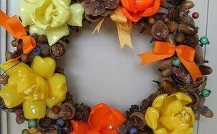 plastic spoon wreaths, crafts, wreaths