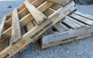 diy pallet a c cover, curb appeal, landscape, outdoor living, pallet, woodworking projects