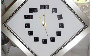 keyboard clock, crafts, home decor, how to, repurposing upcycling