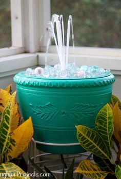bunch o balloons diy fountain, outdoor living, ponds water features, repurposing upcycling