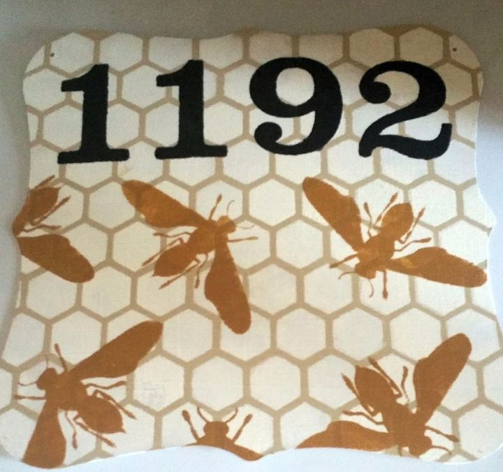 Bee Home Decor: Honey Bee House Number