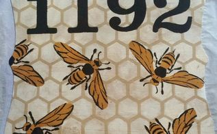 honey bee house number, home decor