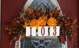 diy tile house number decor, doors, home decor, porches