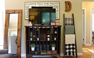 diy leaning mirror, home decor, woodworking projects