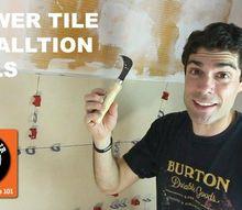 shower tile installation tools quick tips , bathroom ideas, tiling, tools