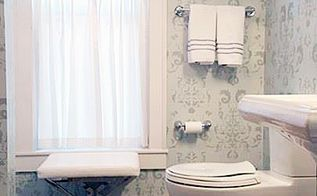 create an inviting bathroom with stencils, bathroom ideas, home decor, home improvement, paint colors, wall decor