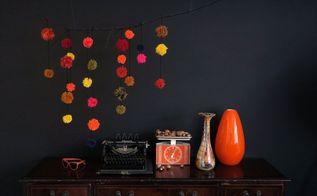 pompom fall decoration, home decor