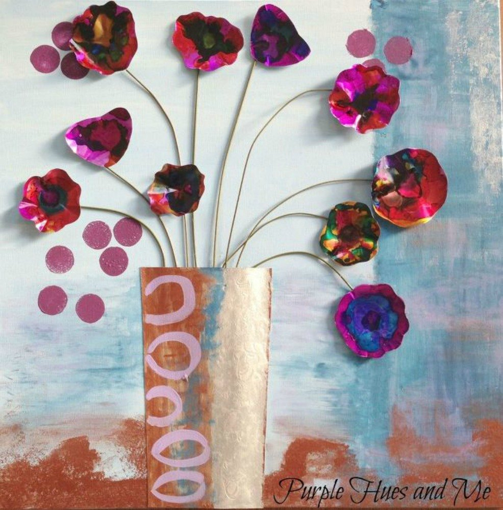 s these cut up soda can decor ideas are perfect for your home, home decor, Paint them into gorgeous watercolor flowers