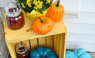 small porch and tabletop decor for fall, crafts, home decor, how to, porches, seasonal holiday decor