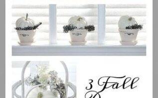 3 white pumpkins 3 decorating ideas, crafts, home decor, seasonal holiday decor