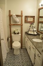 bathroom ladder, bathroom ideas
