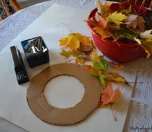 how to make a real leaf wreath this fall , crafts, how to, seasonal holiday decor, wreaths