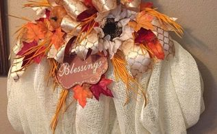 pumpkin wreath, crafts, seasonal holiday decor, wreaths