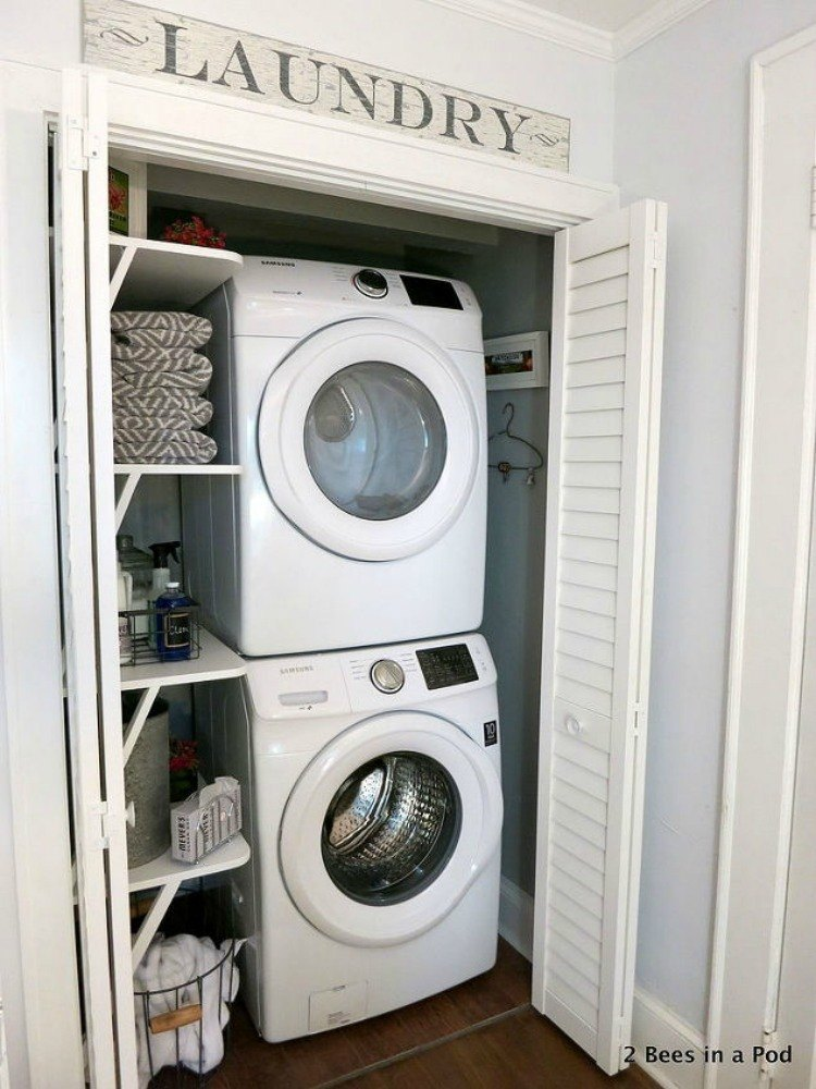 10 space saving hacks for your small laundry room hometalk - Laundry rooms for small spaces decoration ...
