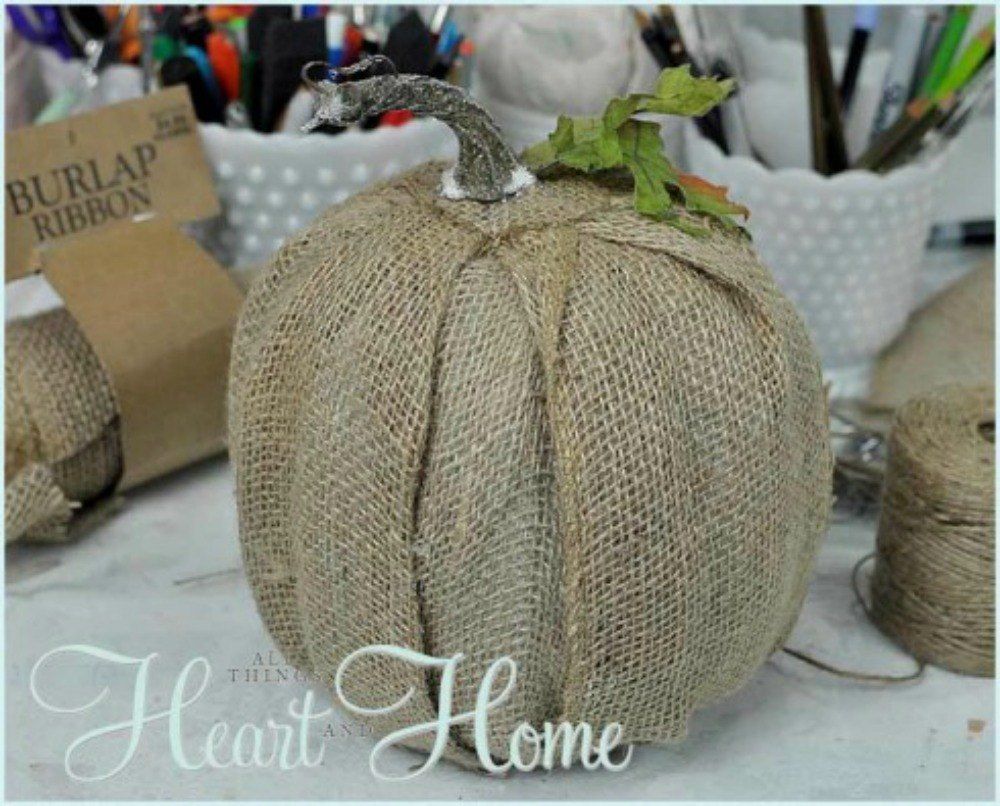 How to store pumpkins - Cover Them In Burlap Your Dollar Store Pumpkins
