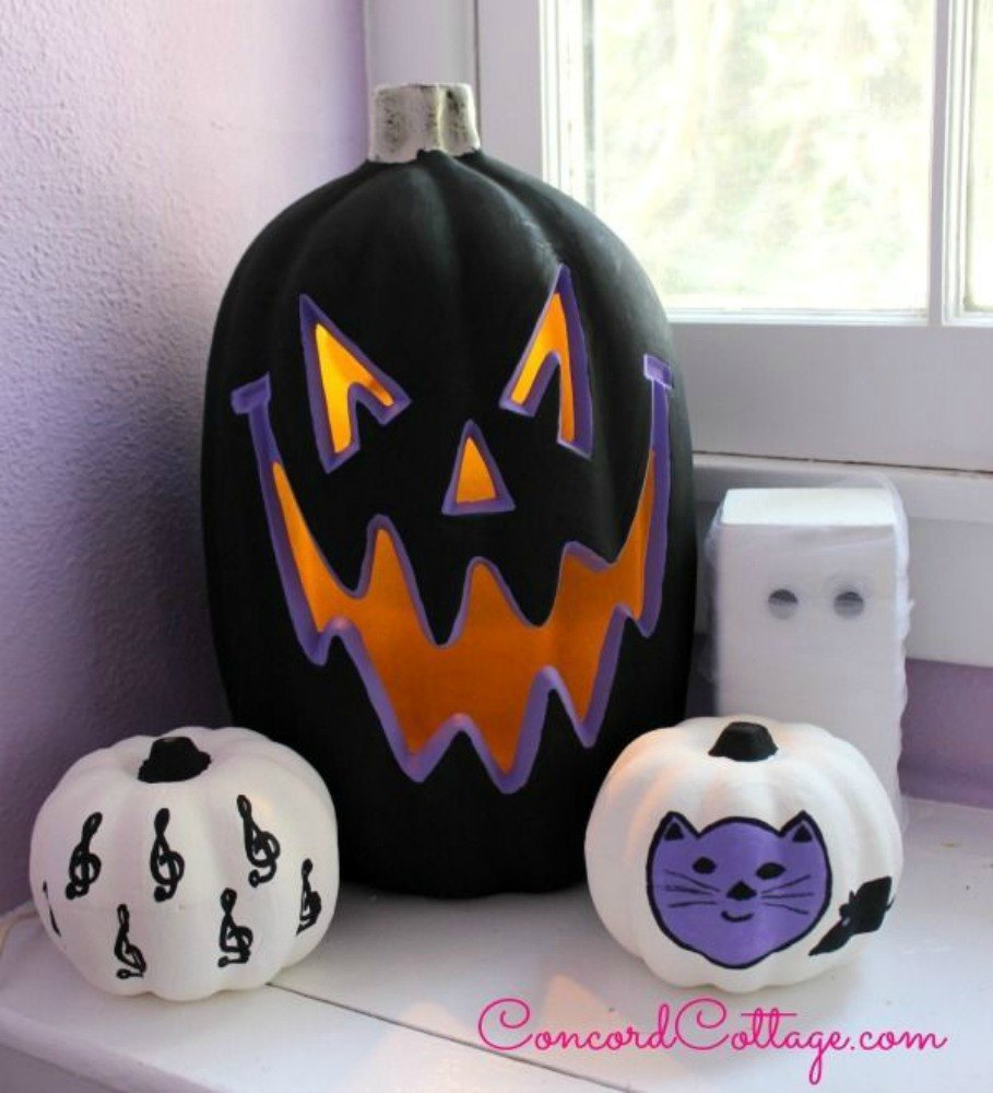 give them a spooky look with back and purple - Spooky Halloween Store
